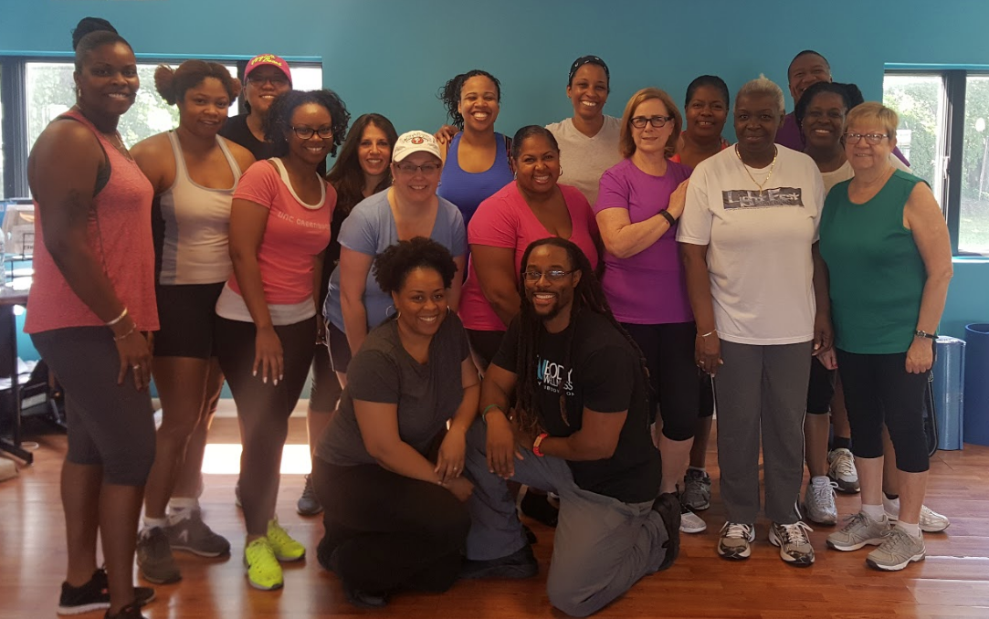 Coach T and Dr Toni with Summer SlimDown Challengers